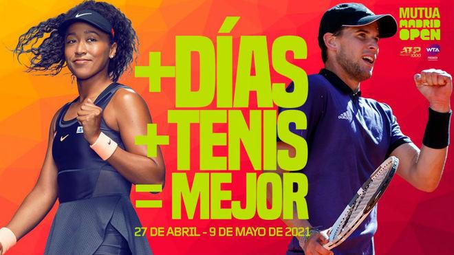 Naomi Osaka y Dominic Thiem, en el cartel de la pr
