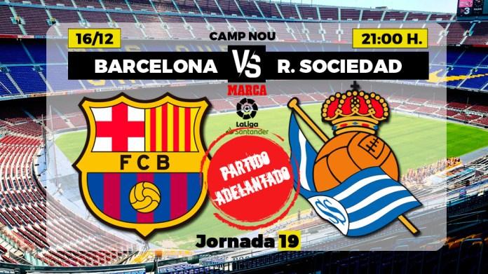 Alineaciones ndoshta Barcelona - Real Sociedad del partido de LaLiga