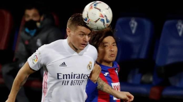 Kroos në Eibar vs Real Madrid.