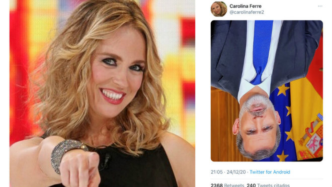 La periodista y presentadora Carolins Ferre y su tuit con el Rey ...