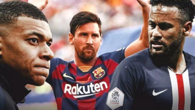Mbappe, Messi dhe Neymar
