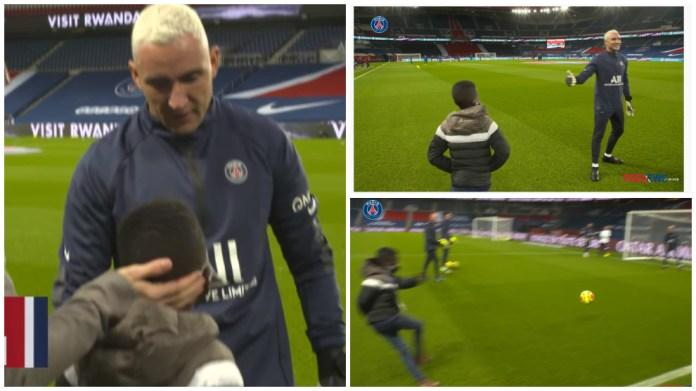 Gjest mahnitës i Keylor Navas ndaj 10-vjeçarit mega-tifoz të PSG-së