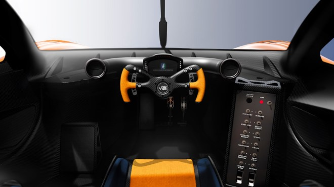 The interior is minimalist.  Everything is focused on driving