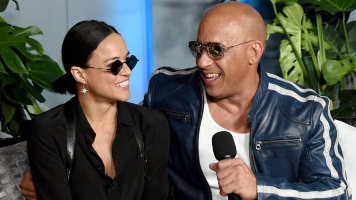 Michelle Rodriguez and Vin Diesel