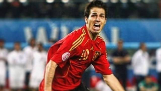 Cesc Fabregas (34) after scoring the penalty against Italy in the quarterfinals.