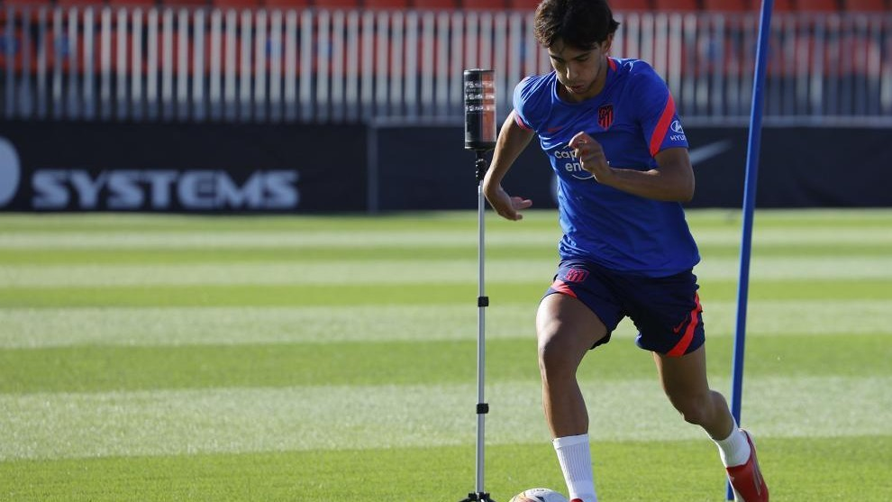 Joao Félix exercises on Tuesday with Atlético.