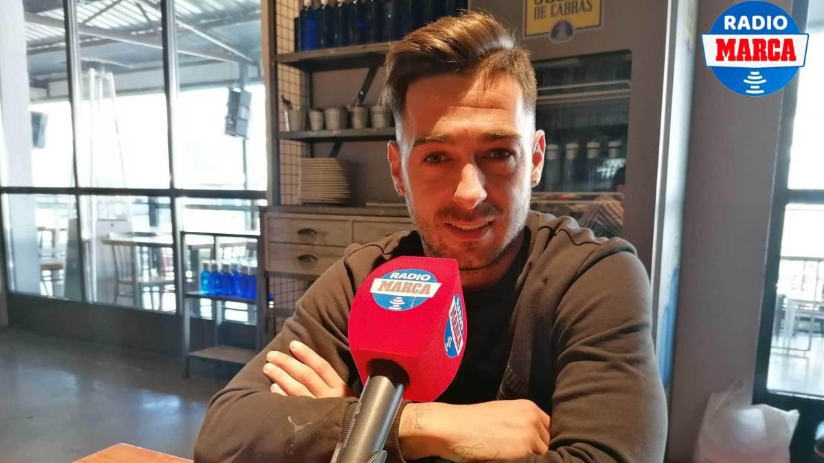 Sergio León, during the interview with Radio MARCA Valladolid