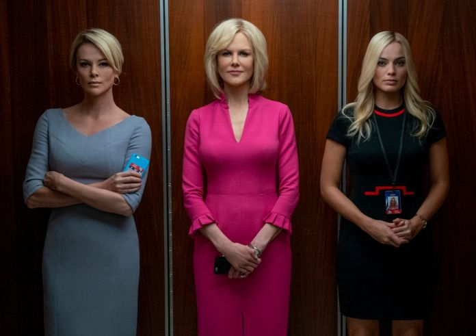 Charlize Theron, Nicole Kidman and Margot Robbie in The esc