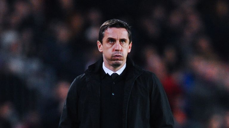 Gary Neville and Valencia endured a miserable night