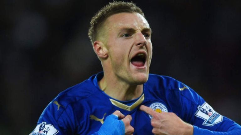 Jamie Vardy received two yellow cards against West Ham
