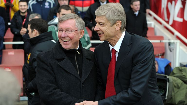 Wenger says he's on friendly terms with former Man Utd boss Sir Alex Ferguson