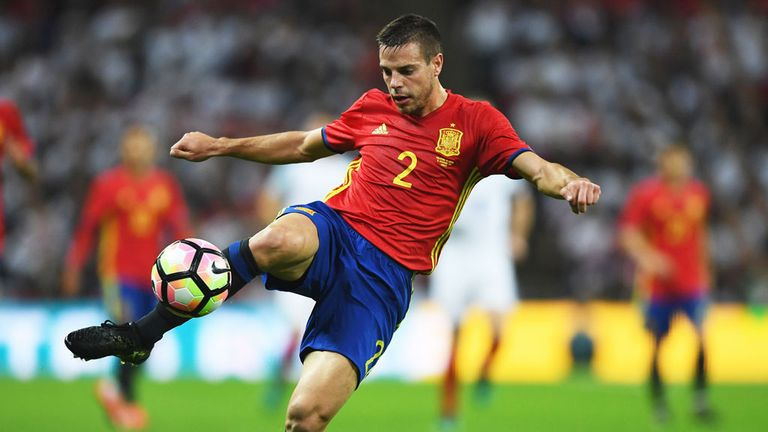 Cesar Azpilicueta has been capped 18 times by Spain