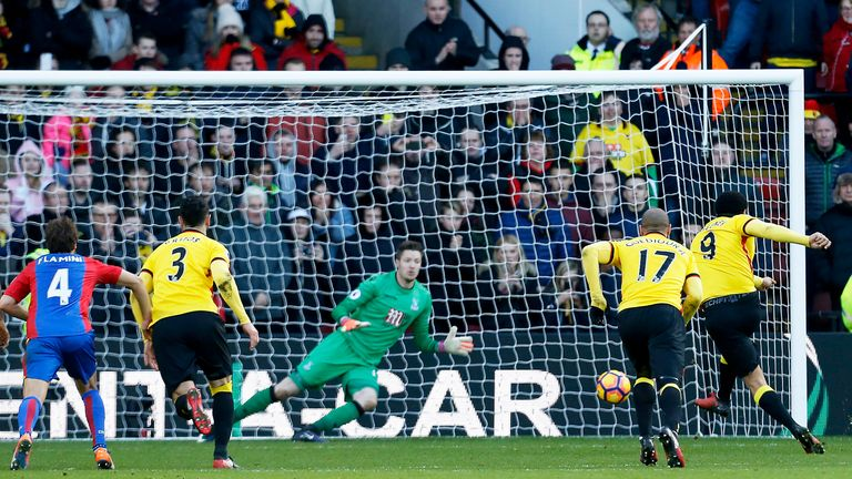 Troy Deeney equalised for Watford from the penalty spot