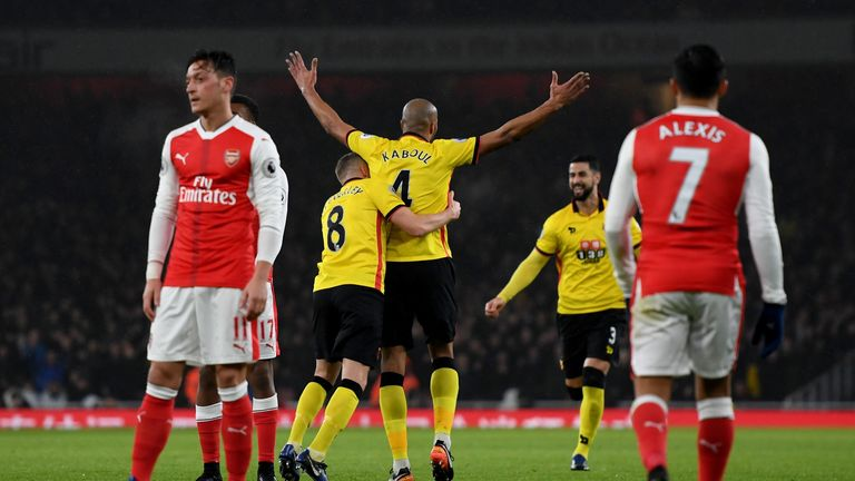 Image result for arsenal 1-2 watford