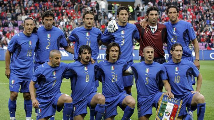 Francesco Totti lifted the World Cup for Italy