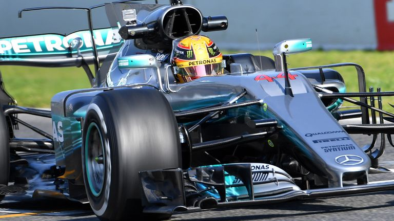 Image result for Hamilton okay with car after setting fastest time in Barcelona