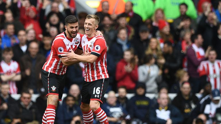 Image result for james ward-prowse and shane Long