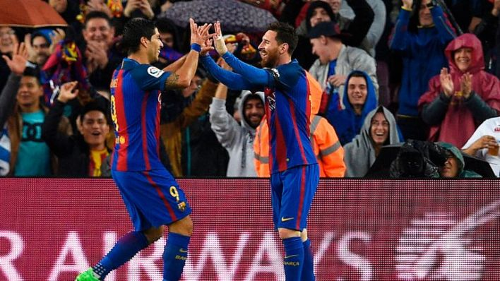 Messi and Suarez combined to devastating effect in the Nou Camp