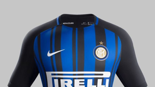 Inter Milan's new black and blue home kit for 2017/18 by Nike