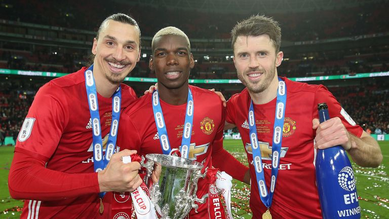 Image result for Paul Pogba, Zlatan Ibrahimovic and Marcos Rojo in Manchester United squad for Newcastle game