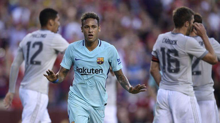 Neymar's goal gave Barcelona a 1-0 win over Manchester United
