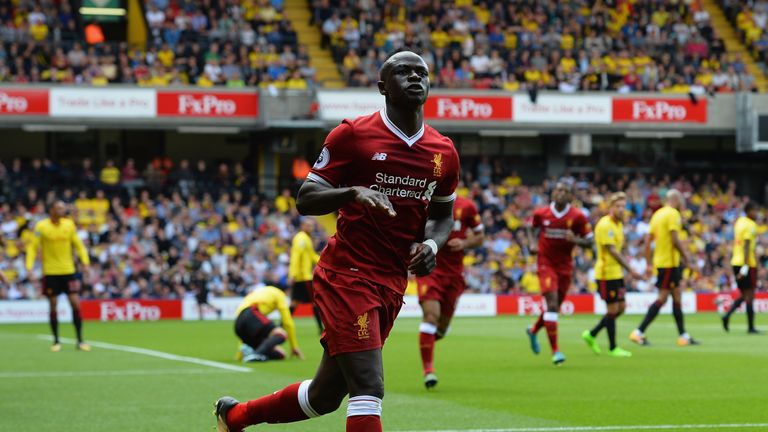 Sadio Mane has scored three goals in four Premier League appearances for Liverpool this season