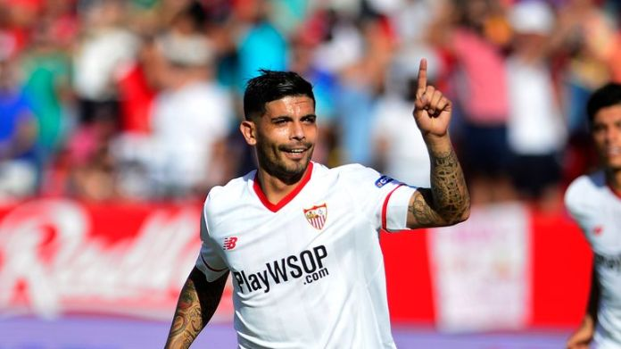 Ever Banega scored the only goal for Sevilla in their win over Real Sociedad