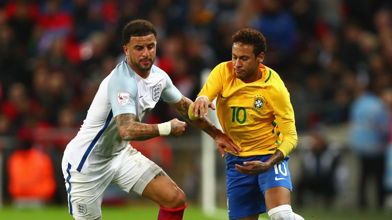Neymar and Brazil could not find a way past England in Tuesday's friendly at Wembley