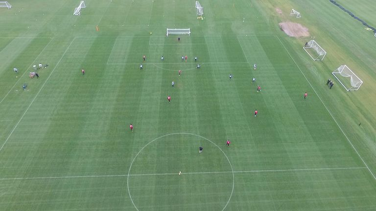 The view from the drone has helped Charlton's coaches analyse their team's play