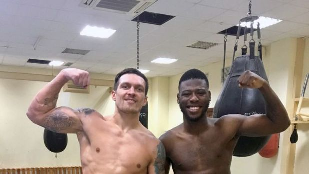 Isaac Chamberlain has been at the revamped Olympic Academy of Ukraine to work closely with Oleksandr Usyk