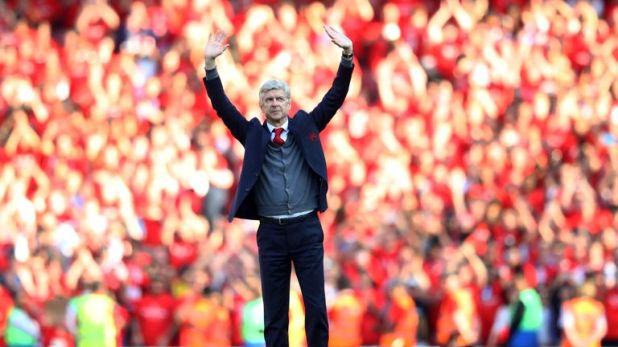Wenger says goodbye to Arsenal in his final home game as manager after 22 years at the club