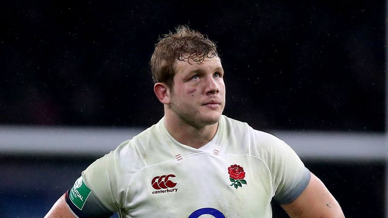 England second row Joe Launchbury is out for between 10-12 weeks