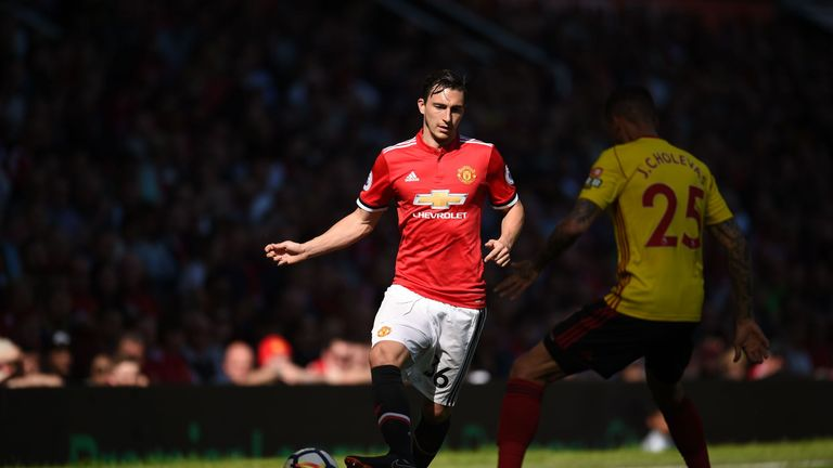 Matteo Darmian, who came on for Valencia, has been linked with a move away