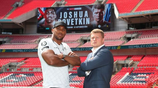 Povetkin is preparing to face Joshua in front of a huge attendance