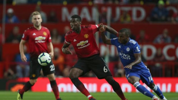 Pogba scored against Leicester on the opening day of the season