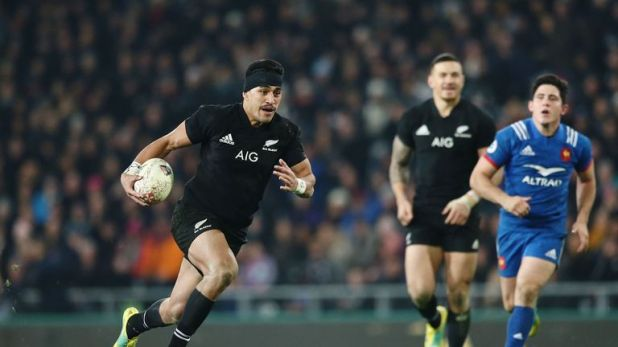 Rieko Ioane has scored 16 tries in 17 games for the All Blacks
