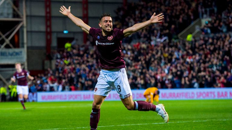 Hearts set up a clash with Celtic after a 4-2 win against Motherwell
