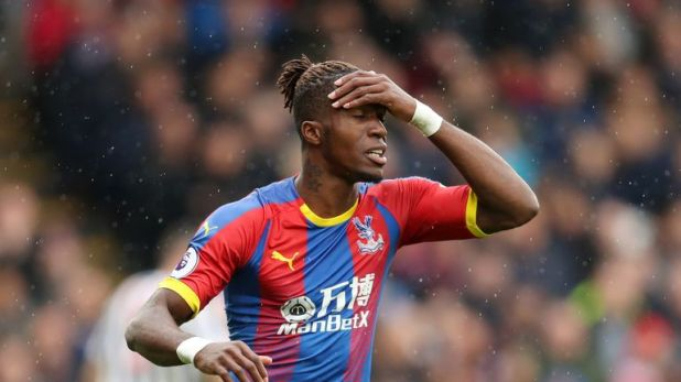 Wilfried Zaha missed the defeat to Spurs with a hamstring problem