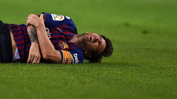Lionel Messi suffered a fractured arm and will miss next weekend's El Clasico with Real Madrid