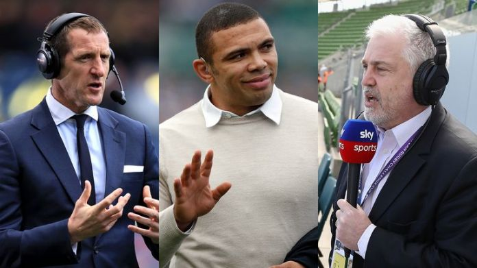 Will Greenwood, Bryan Habana and Stuart Barnes speak in Twickenham to England and South Africa