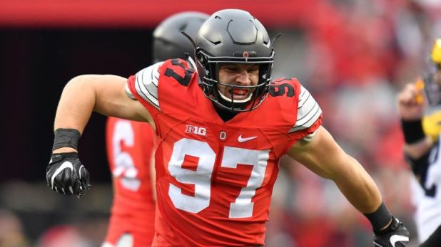 Nick Bosa had 17.5 sacks in 27 games for Ohio State