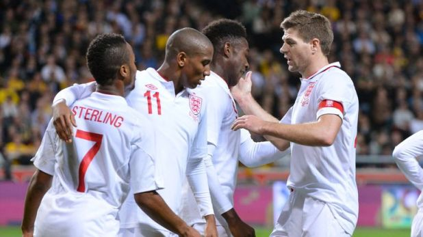Sterling helped make a goal on his international debut