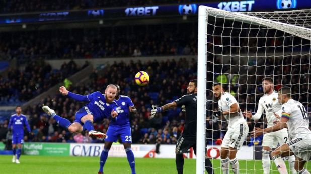 Aron Gunnarsson netted an acrobatic equaliser for the Bluebirds