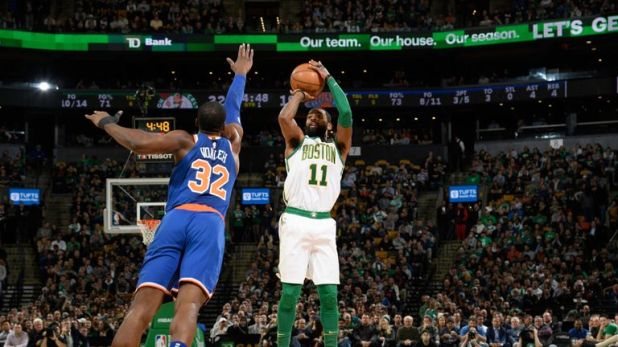 Kyrie Irving shoots over Noah Vonleh