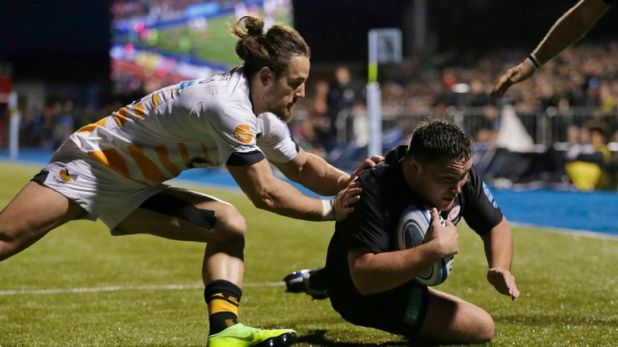 England hooker Jamie George was one of two try scorers in the Sarries win