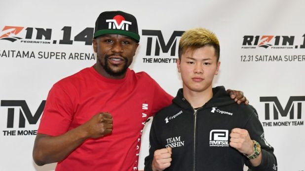 Floyd Mayweather will fight Japanese kickboxing star Tenshin Nasukawa in a three-round boxing exhibition