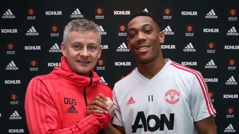 Solskjaer has brought smiles to Old Trafford - and helped tie players including Anthony Martial to new deals