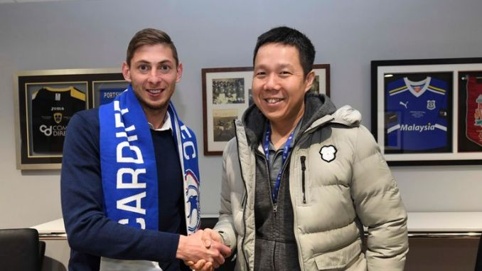 Sala moved to Cardiff for a club-record fee