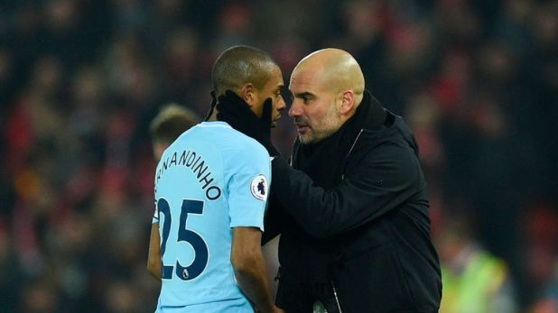 Fernandinho (left) has been outstanding for City this season, says Merse
