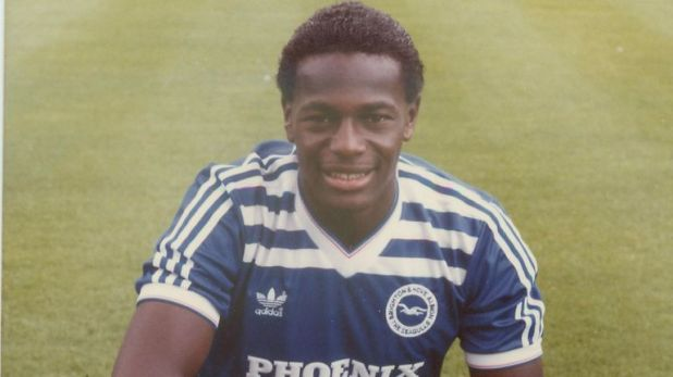 Justin Fashanu - Britain's first £1m black footballer - played for several clubs including Norwich, Nottingham Forest, Notts County and Brighton